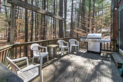 Use the gas grill to host a BBQ on the backyard deck.