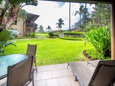 Photo for Lanai to Lawn! Chic Kitchen+Bath, Ceiling Fans, WiFi, Tile Floors–Kaha Lani 110