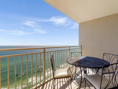 Photo for Beachfront penthouse w/ Gulf view balcony & resort pools/hot tub/gym!