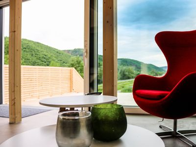 """Photo for Chalet """"Mosel"""" - 2-4 pers. New - open, modern design, dream terrace"""