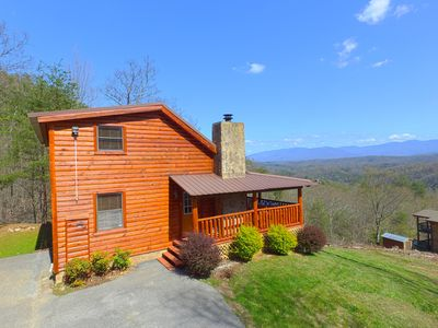 Photo for Pigeon Forge Cabin With Gorgeous Mountain Views of Mt. LeConte!