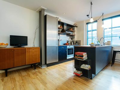 Photo for Colorful and spacious flat in desirable East London (Veeve)