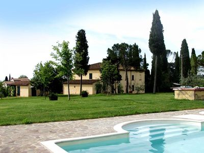 Photo for 9 Bedroom Detached Villa Arezzo   Villa Rustica is a lovely Tuscan Manor house and cottage enclosed