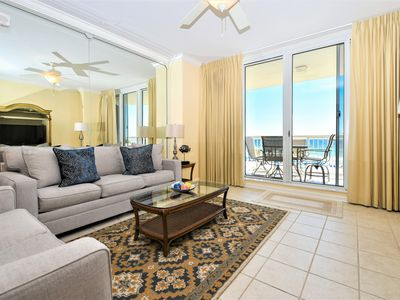 Photo for Beachfront Condo with Open Floor-plan and Unobstructed Views of Private Beach!