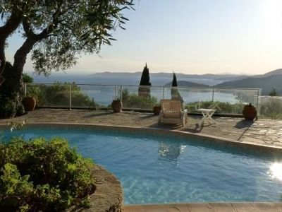 Photo for Provencal villa all comfort with panoramic views of the Mediterranean