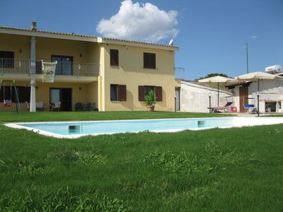 Photo for apartment in a villa in the countryside with pool and garden