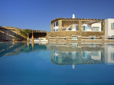 Photo for Villa Skyline in Kalo Livadi, Mykonos, with sea view, private pool, 5 bedrooms, 9 sleeps