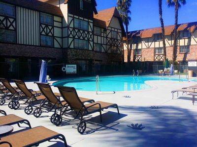 Photo for Reduced Rate! Modern King Unit, Large Pool, Hot Tub, Shuttle to Disneyland!
