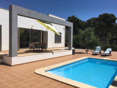 Photo for New Villa in Cala Pi. Private pool. Beach and descent to the sea. Parking