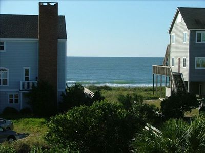 Beach access directly across the street with a vie