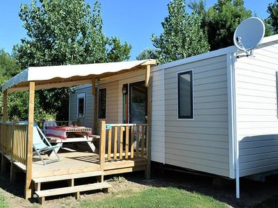 Photo for Camping Au Lac Biscarrosse ***** - Mobil-home Grand Confort TV Clim 4 Rooms 6 Persons