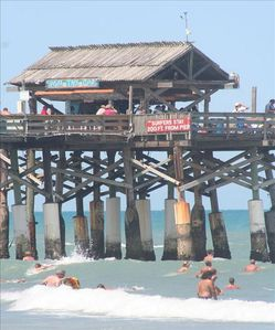 View of Cocoa Beach Pier from Balcony