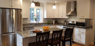 Full Kitchen with at Island Seating for 3