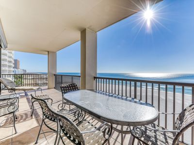 Photo for Waterfront corner condo w/shared pools, wrap-around balcony, & tennis courts