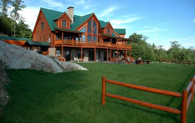 Photo for 70 Acres -Log Lodge  Secluded in Mountains with Extreme Mountain Views
