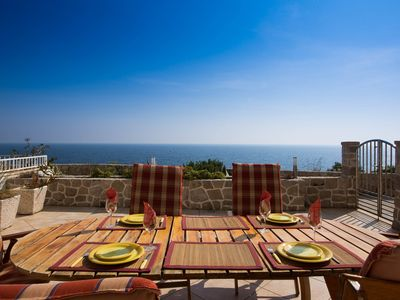 Photo for Dubrovnik, Modern, Spacious, Sea View, Large Terrace, BBQ, Free Private Parking