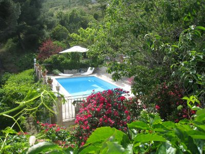 Photo for Villa with Private Pool, Backed Hill, Sleeps 6, 2 Bedrooms
