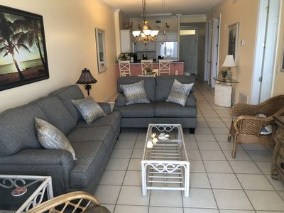 Photo for #603 - Beautiful Gulf Front 6th floor/2BD 2BA/Large Balcony/Keyless Entry