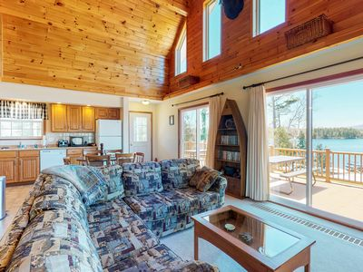 Photo for Waterfront home w/ a private hot tub, canoe, & kayaks - 100 ft. from the water!