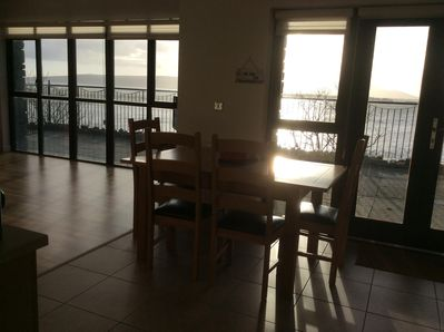 Early morning View of Lough Foyle from the kitchen (taken in the winter).