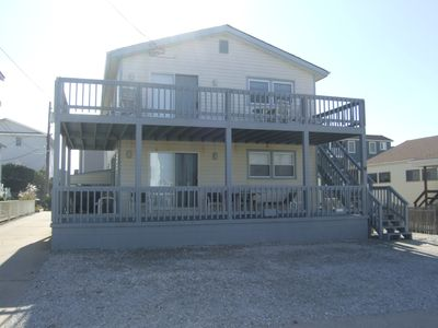 Photo for Beach Block only steps to the ocean 1st Floor of a Duplex - large patio for ocean viewing.