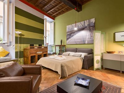 Photo for Vicolo delle Grotte | Romantic apartment in Campo de' Fiori