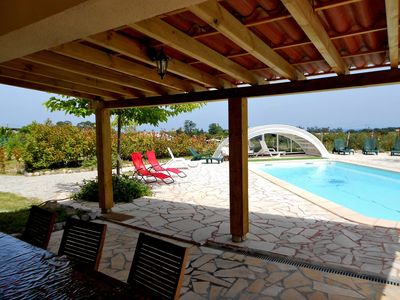 Photo for Villa indoor heated private pool + spa + private household !!