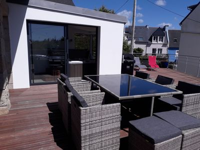 Photo for Beach Morgat Villa comfort 7 pers with SPA sea view