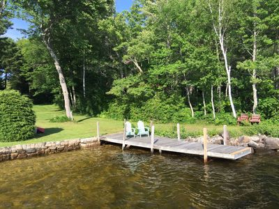 Sandy-bottom & clean swimming area with stone steps. (Sorry, no overnight ties)