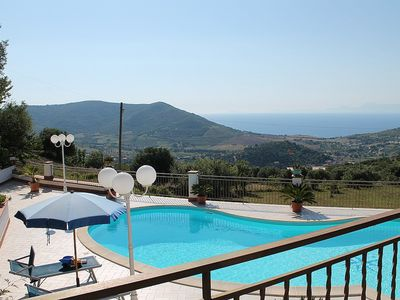 Photo for Villa Gioconda: A charming three-story villa located on a hillside, facing the sea, with Free WI-FI.