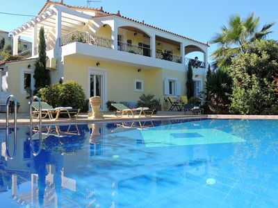 Photo for Villa Adonis. Ground floor guest apartment with large, private pool and garden.