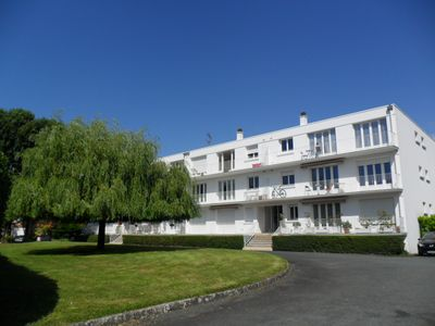 Photo for Apt in La Rochelle city own garden private parking walking distance to the beach