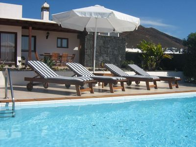 Photo for This 2-bedroom villa for up to 4 guests is located in Playa Blanca and has a private swimming pool a