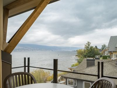 Photo for Balcony + Lake View | Private Beach + Outdoor Pools + Hot Tub