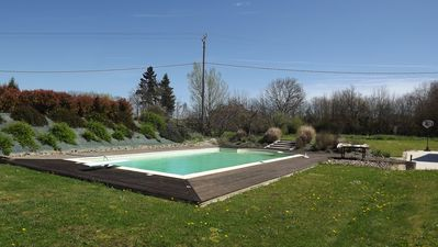 Photo for Rural bliss large apartment -with 12 x 6 metre pool in quiet country location.