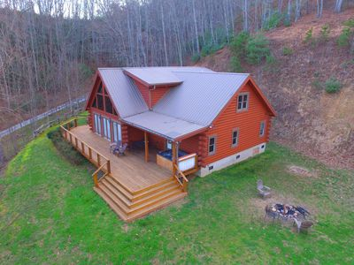 Photo for Sophie's Choice ~ Incredible 2800 Sq. Ft. Luxury Log Cabin - Hot Tub - View!