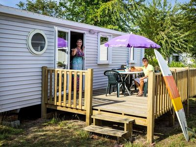 Photo for Camping Resort La Rive ***** - Comfort Cottage TV 3 Rooms 4/6 People