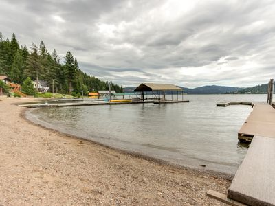 Photo for NEW LISTING! Waterfront cabin w/ large deck, fishing dock, & private beach