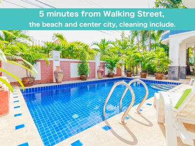 Photo for Private pool villa 5 bedrooms 5 minutes Walking Street and beaches
