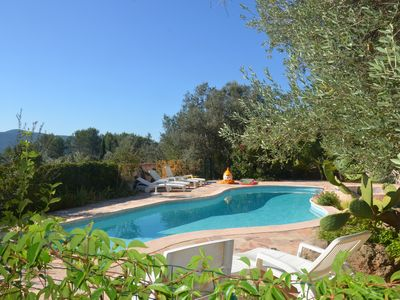 Photo for Large House ,with secured swimming pool, in the nature, 30 mn far from the sea.