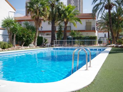 Photo for Cosy Town House at Levante Beach (WiFi, AirCon, Pools)