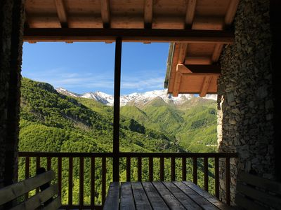 Photo for Mountain holidays - Mongioie chalets with panoramic views.