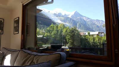 Photo for Light airy, well equipped rental, central Chamonix with views of Mont-Blanc