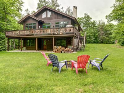 Photo for Lovely home w/ deck, firepit, pond access & shared pools - near Killington/Okemo