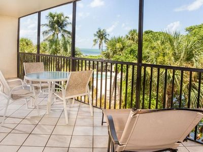 Photo for Updated, Tropical Gulf View, Two Bedroom Condo - Sand Pointe 121