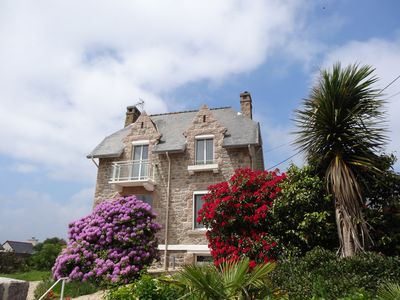 Photo for Fully renovated granite house - Sea view - Perros-Guirec Access w