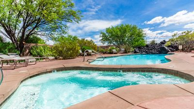 Community Pool & Hot Tub Serving 20 Homes Just Beyond Back Gate Of Home