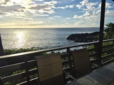 Photo for Right on the Ocean – Secluded Cove-Private House- Gorgeous Sunsets- Waimea Bay