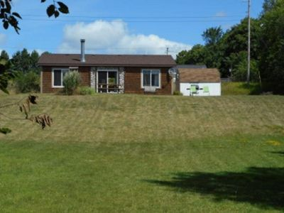 Photo for 3 Bedroom Private Lakefront vacation rental on 10,000 acre Big Manistique Lake