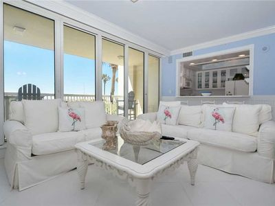 Photo for Beach Front Condo. Ground Floor with Patio Access to Resort Beach and Pools